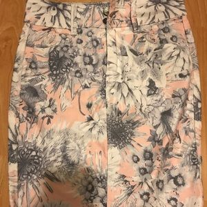 Flowers Mini Skirt
